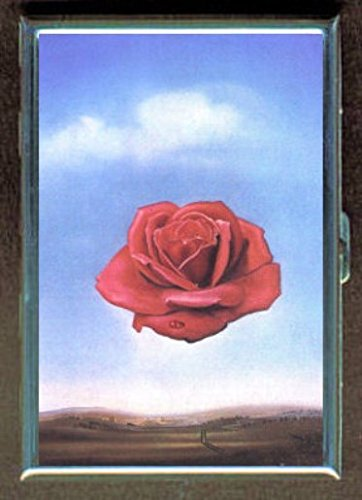 Salvador Dali Meditative Rose Stainless Steel ID or Cigarettes Case (King Size or - Cigarette Salvador Dali Case