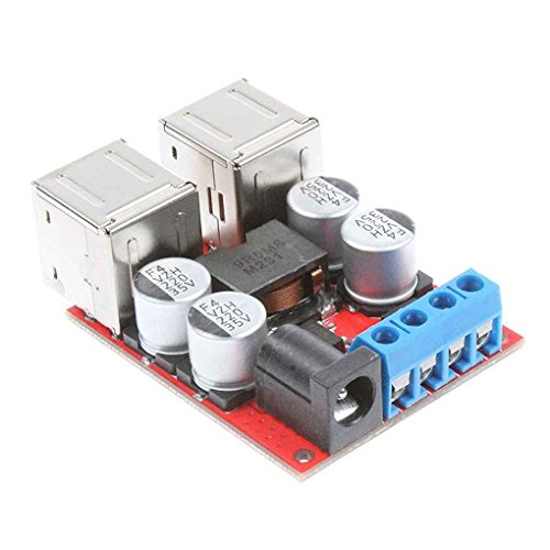 (You May 8V-35V to 5V 8A 4-Port USB Charger Power Supply Module Step-Down Buck Voltage Module for Mobile Phones Car)