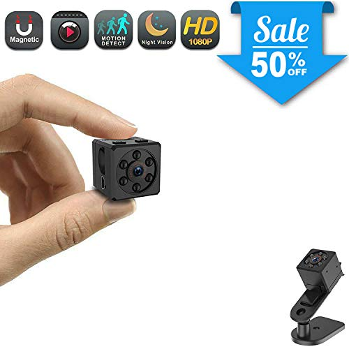 Mini Spy Camera, CHUHE 1080P Portable HD Covert Body Camera with Night Vision and Motion Detection,Indoor/Outdoor Small Security Camera,Perfect Hidden Camera for Home and Office