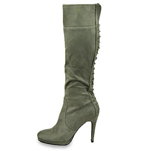 Cucu Fashion - Sandalias con cuña mujer gris