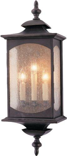 Feiss OL2602ORB Market Square Outdoor Lighting Wall Pocket Sconce, Bronze, 3-Light (9