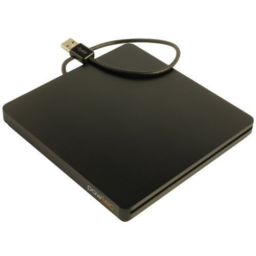 Pawtec UltraSlim External USB 3.0 Slot-Loading BDXL 3D Blu-Ray Writer / Burner For PC or Mac - Black by Pawtec