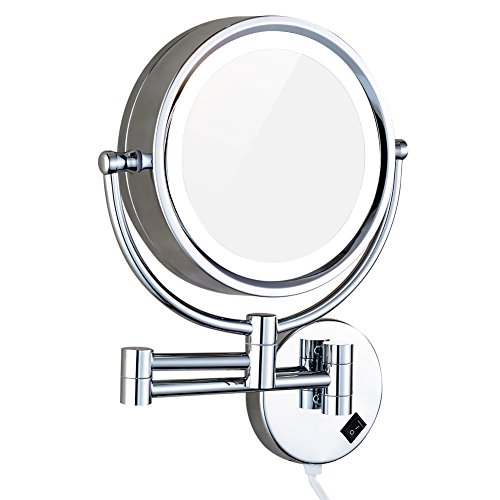 Dowry lighted wall mount makeup mirrors with 7x magnificationchrome dowry lighted wall mount makeup mirrors with 7x magnificationchrome m1809d85in7x aloadofball Gallery