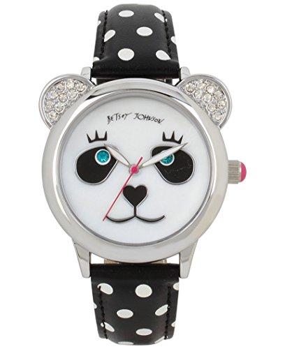 Betsey Johnson Panda Watch Betsey Johnson Womens White Strap Watch
