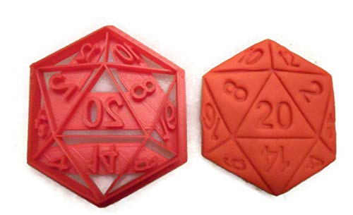 - D20 Twenty Sided Dice cookie cutter