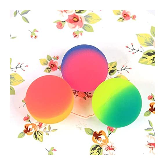 Desi Commodity 40 MM Kids Hobby Colorful Bouncy Balls, Stress Reliever Fun Play Balls (Pack of 3, Random Color)