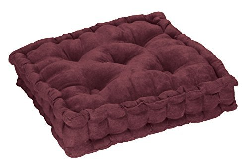 (EasyComforts Tufted Booster Cushion, Burgundy, One Size )
