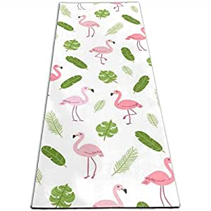 Amazon.com: Lawsonnd Barded Pink Flamingo and Green Palm ...