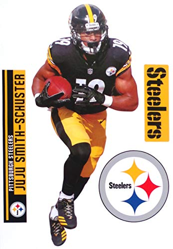 FATHEAD Juju Smith-Schuster Pittsburgh Steelers Logo Set Official NFL Vinyl Wall Graphics 17