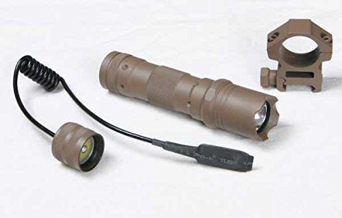 Push Button Tail Cap (Ultimate Arms Gear FDE Flat Dark Earth Tan 90+ lumens Flashlight Tactical - Light Kit For AR15, AR-15, M4,M-4, M16,M-16 Rifle With A 7/8