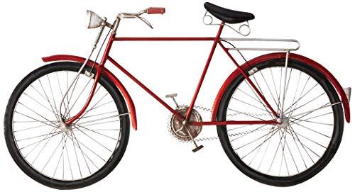 (Deco 79 65528 Metal Red Bike Wall Art)