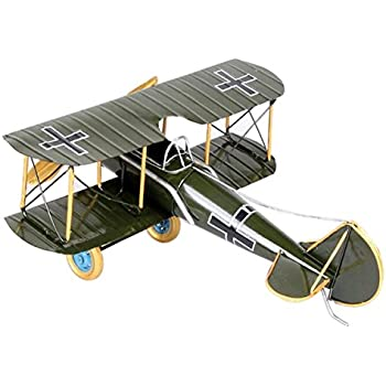 Vintage Retro Iron Sheet Second World War Biplane Aeroplane Airplane Model Home Decor Office Gifts Green