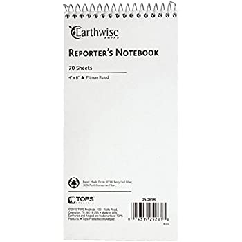 Ampad 25-281R Reporter's Notebook 25-281 Recycled, 4x8, 70 Sheets, Pitman Ruled