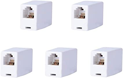 5x RJ11 Straight Telephone Phone Cord Cable Line Adapter Inline Coupler