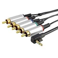 Component AV TV HDTV Cable Lead Cord For PSP Slim 2000/3000 New