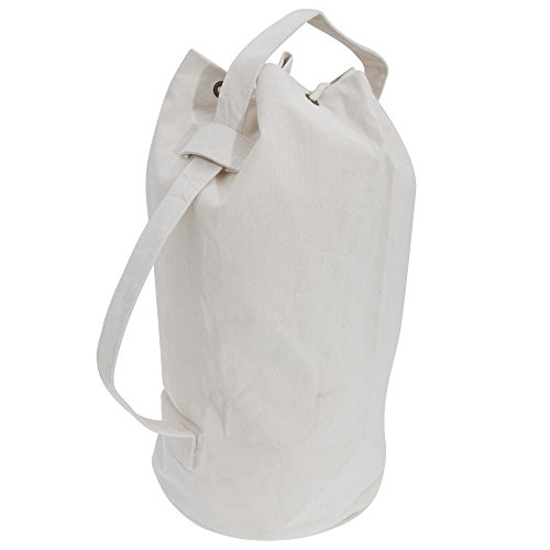 Natural Cotton Shoulder Bag (Quadra Canvas Duffel Bags - 30 Liters (One Size) (Natural))