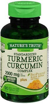 Nature s Truth Standardized Turmeric Curcumin Complex 2000 mg per Serving Capsules – 90 ct