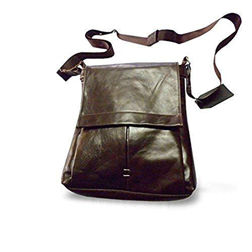 イタリア製職人用製品L29xH36xP7 cm本革製タブレットバッグMod:ベルブラウン [並行輸入品]   B07LDSNNXG
