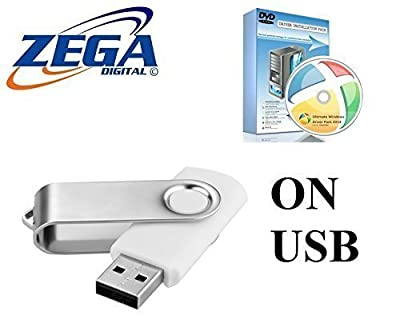 Windows Vista Drivers Pack on USB FLASH PEN Install Missing Drivers Automatically Wireless, Network, Graphics and much more for Windows XP, Vista, 10, 7, 8 32/64 Bit Computer Laptop PC