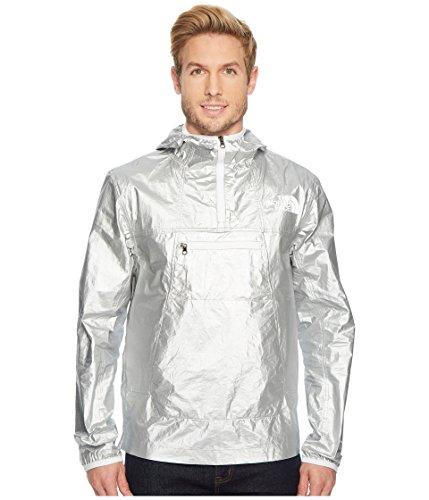 (The North Face Men's Crew Run Wind Anarak Rain Jacket, Shiny Silver Metallic,)