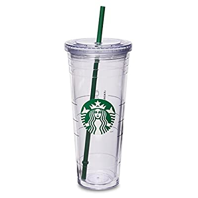 Starbucks 16 Ounce Clear Acrylic Insulated Tumbler (Grande To-Go Cup)