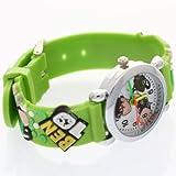 TimerMall Ben 10 Toy Cartoon White Dial Green Strap