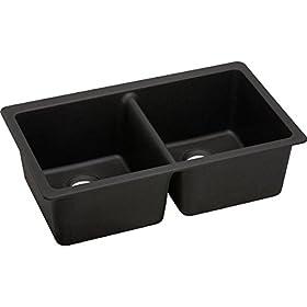 ELKAY RESIDENTIAL Elkay Quartz Luxe Double Bowl Undermount Sink,33″ x 18-3/4″ x 9-1/2″