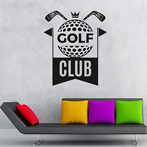 Cenrial Quotes Art Decals Vinyl Removable Wall Stickers Golf Club Quotes Wall Stickers Kids Boys Girls Teenager Room Decor Outdoor Sports Home Decals