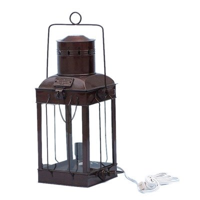 Cargo Electric Lamp Size: 18″ H x 9.5″ W x 7.5″ D, Finish: Antique Copper