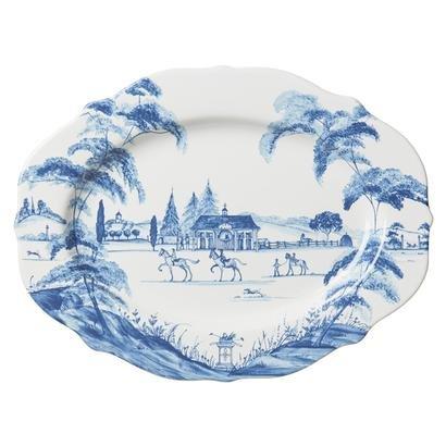 Juliska Country Estate Medium Serving Platter Stable Blue