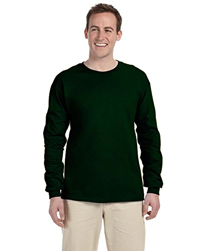 (Gildan Adult L/S T-Shirt in Forest Green - XX-Large)