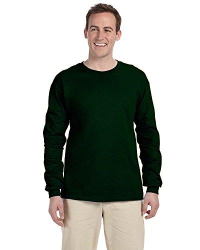 Gildan Adult L/S T-Shirt in Forest Green - Medium