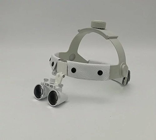 SoHome Headband Surgical Medical Binocular Loupes 3.5X420mm Dental Lab Equipment DY-108 White by SoHome (Image #1)