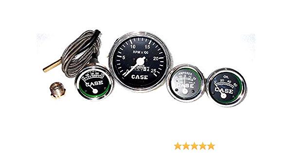 L,S Amp Gauge Set- C D Oil Case Tractor Temperature