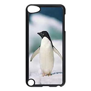 Specialdiy Adelie Penguin case cover For JY13u48zTPr Ipod Touch 5 {Black}