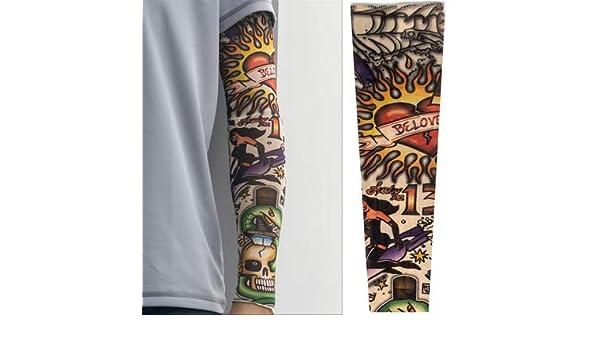 Manga del tatuaje Protector solar de verano Conducción Hombres y ...