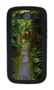 Bamboo Garden TPU Case Cover for Samsung Galaxy S3 and Samsung Galaxy I9300 Black