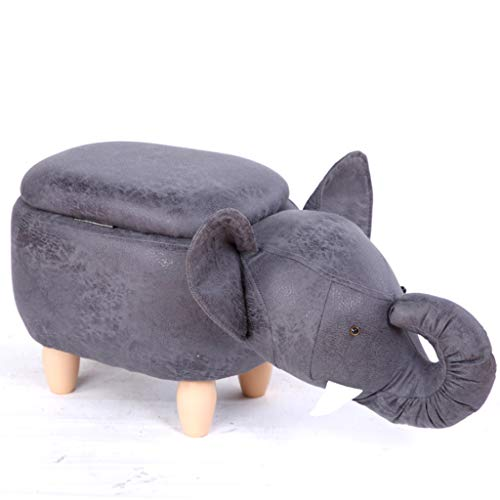 Kays Barstools Animal Change Shoe Storage Stool, Footstool Solid Wood Shoes Stool Fashion Creative Party Fabric Sofa Tea Table Bench Home Stool (Color : H)