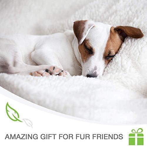 Cobija para perro – Cobija para mascotas pequeña, medianas, grandes perros y gatos – cálida, esponjosa y suave 6