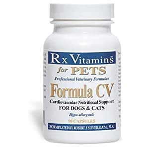 Rx Vitamins for Pets Formula CV for Dogs & Cats – Cardiovascular Nutritional Support – Hypoallergenic Veterinary Formula – 90 Capsules