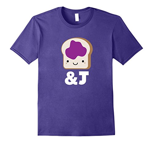 Mens MATCHING SET Peanut Butter and Jelly Couples Friend Shirt Small (Peanut Butter And Jelly Costume For Adults)