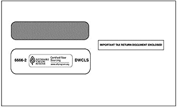 25 Form Envelopes 25 W2 Envelopes Self Seal Double Window Security Envelopes Designed for Printed W2 Laser Forms from QuickBooks Desktop and Other Tax Software 5 5//8/'/' x 9/'/'