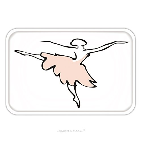 Mens Classical Ballet Costumes (Flannel Microfiber Non-slip Rubber Backing Soft Absorbent Doormat Mat Rug Carpet Vector Illustration Of Classical Ballet Figure Ballet Dancer 274697162 for Indoor/Outdoor/Bathroom/Kitchen/Workstations)