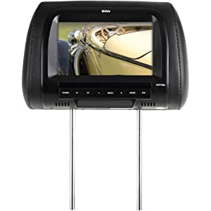Boss HIR70BL Universal Headrest with 7-Inch Widescreen TFT Video Monitor