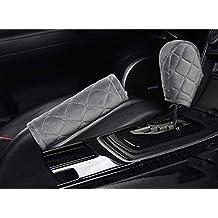 U&M 2pcs Handbrake Cover & Shift Gear Cover,Soft Velvet Feel Cotton Blend 2 pcs in 1 Car Deco Accessories