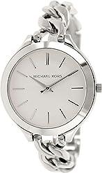Michael Kors Slim Runway White Dial Stainless Steel Ladies Watch MK3279