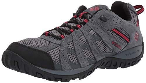 Columbia Men's Redmond Hiking Shoe TI Grey Steel, Mountain Red 14