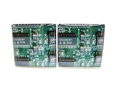 Amazon.com: Green Computer Circuit Circuitry Design Cufflinks: Jewelry