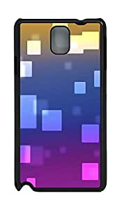 Samsung Note 3 Case Colorful squares PC Custom Samsung Note 3 Case Cover Black
