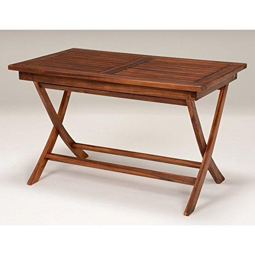 天然木チーク材 折畳み式ガーデニング長方形テーブル120cm×70cm B01FX88RAI